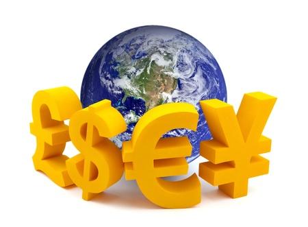 通貨記号とグローブ