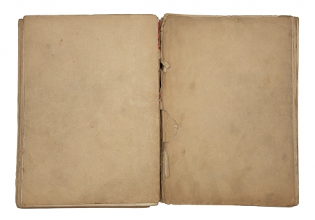 old notebook: Open old blank book