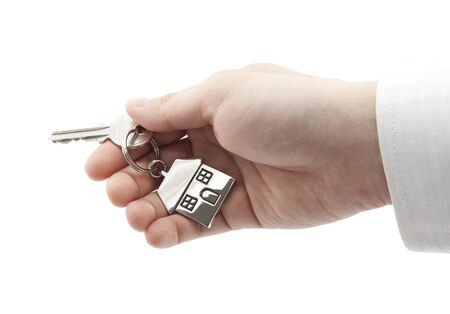 House key in hand Stock Photo - 16259431