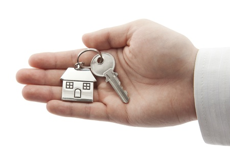 House key in hand Stock Photo - 16259462