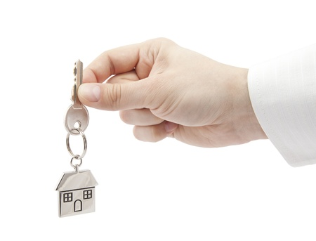 House key in hand Stock Photo - 16259429