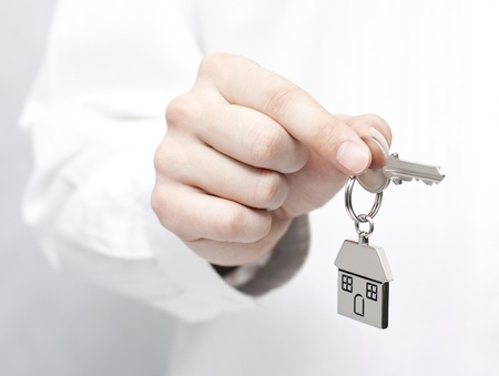 House key in hand Stock Photo - 16259120