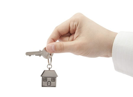 House key in hand  Stock Photo - 16259220