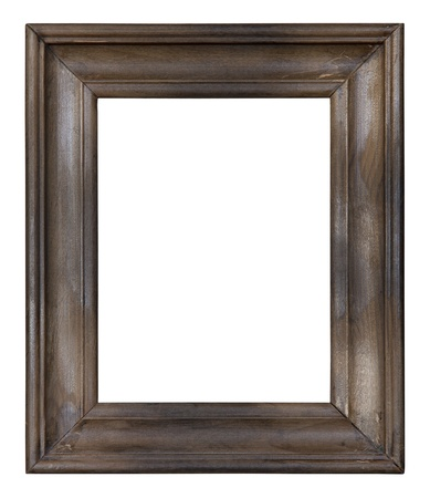 border picture: Old wooden picture frame  Stock Photo