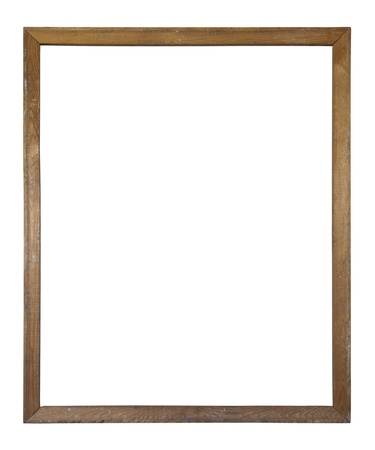 Old dirty wooden picture frame  photo