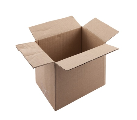 Old cardboard box Stock Photo - 16380204