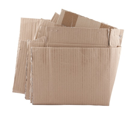 Old crushed cardboard box Stock Photo - 16380257