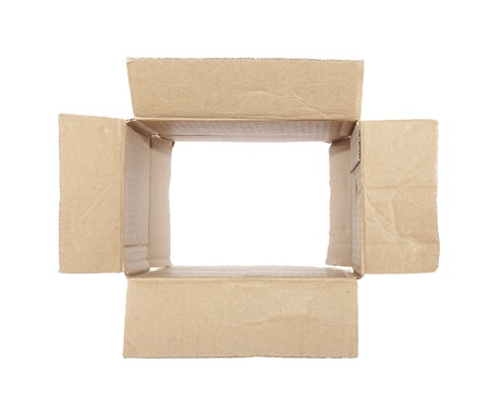 Old cardboard box Stock Photo - 16380254