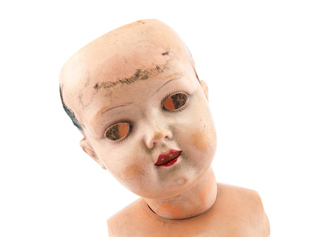 Scary doll face with clipping path