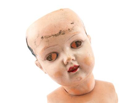 Kırpma yolu Korkunç bebek yüzü Stock Photo