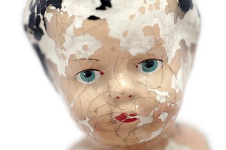 ungeliebt: Child baby doll face Lizenzfreie Bilder