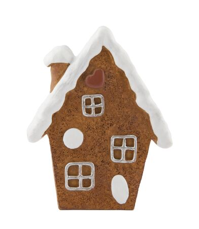 Gingerbread house with clipping path photo