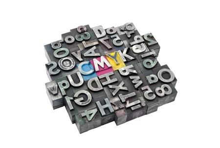 金属文字から作られた Cmyk 写真素材