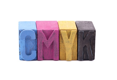 fount: Cmyk made from old letterpress blocks