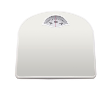 kilo: Bathroom scale with clipping path Stock Photo