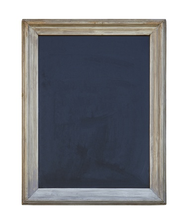 Old blackboard with clipping path photo