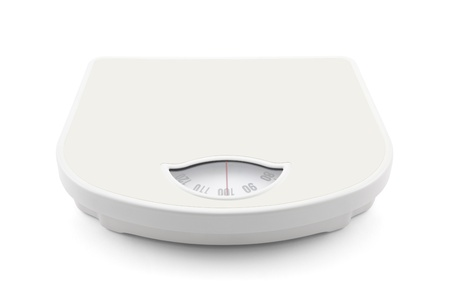 Bathroom scale with clipping path Standard-Bild
