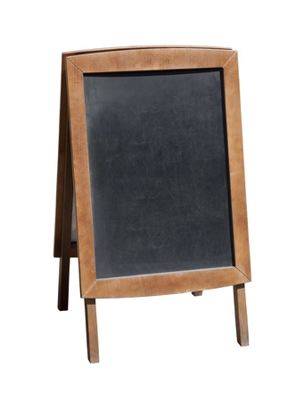 Wooden menu board with clipping path Imagens