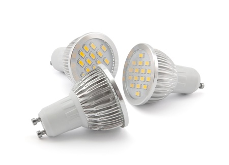 Led light bulbs Banco de Imagens
