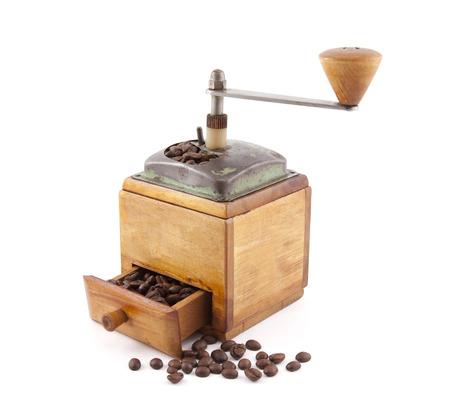 Alte h?lzerne Kaffeem?hle Standard-Bild