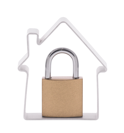 safe house: House and padlock