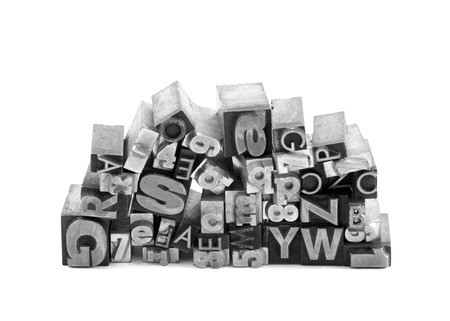 Metal letterpress printing blocks with clipping path Stock Photo - 24689860