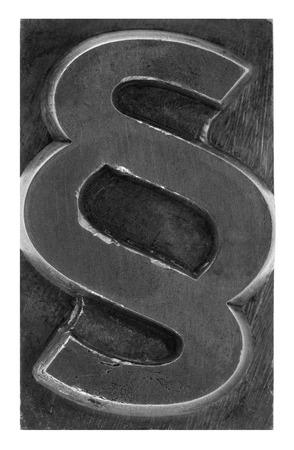 paragraf: Paragraph metal printing block