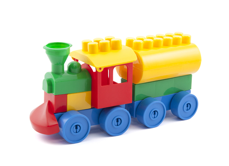 toy train: Colorful toy train with clipping path isolated on white