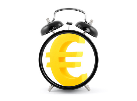 Time is money  Alarm clock with euro symbol  photo