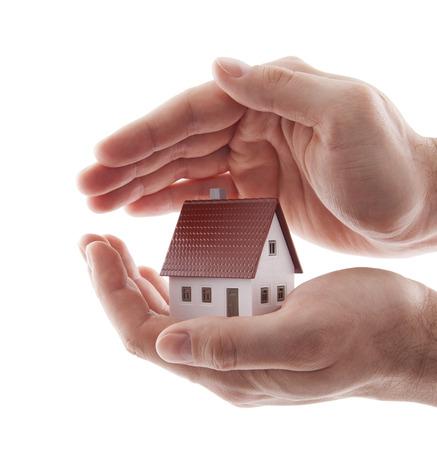 house: Huis verzekering Stockfoto