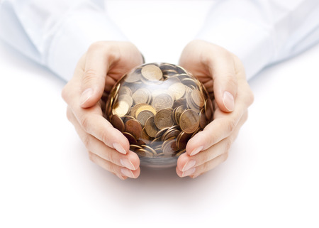 seer: Crystal ball with money in hands