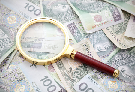 seeking solution: Polish money with golden magnifying glass