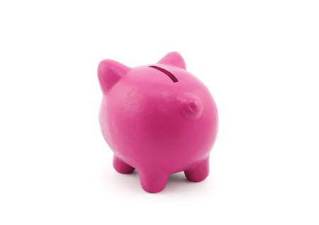 Back view of piggy bank with. photo