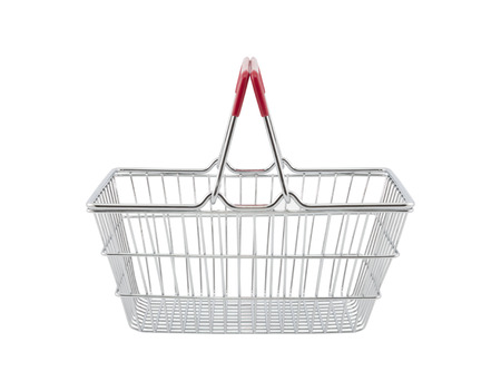 consumerism: Shopping basket isolated on white background with clipping path Stock Photo
