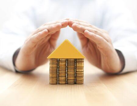 debt: Property insurance concept Stock Photo