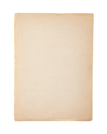 dirty sheet: Old and dirty sheet of paper isolated on white Stock Photo