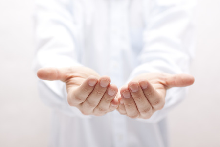 Open hands. Holding, giving, showing concept.