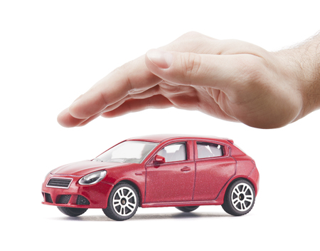 Bescherm uw auto Stockfoto
