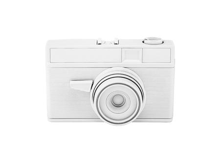 Vintage white photo camera