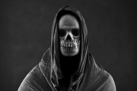 暗闇の中で死神 写真素材