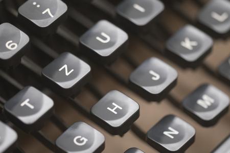 Close up of vintage typewriter keys