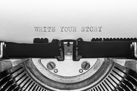 Write your story typed on a vintage typewriter Imagens - 107746077