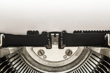 Vintage typewriter with copy space Imagens