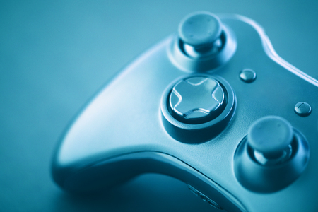 Makroaufnahme des Videospiel-Controllers