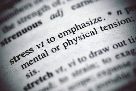 Definición de estrés en un diccionario
