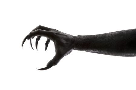 Creepy monster claw isolated on white background 스톡 콘텐츠