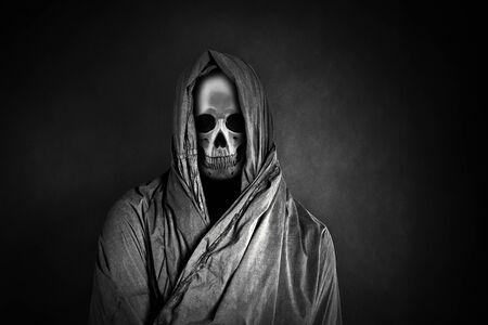 Grim reaper in the dark Stock Photo