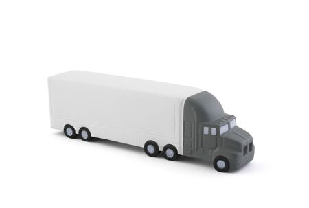 Long truck with a trailer isolated on white background with clipping path