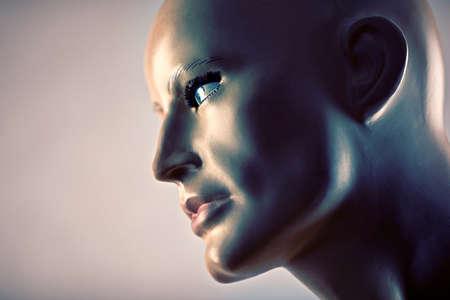 Portrait of an old mannequin 免版税图像