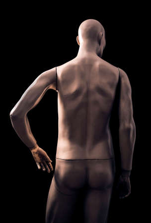 Male mannequin isolated on black background with clipping path
